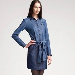 Zac Posen Denim Blue Suited Belted Dress New York